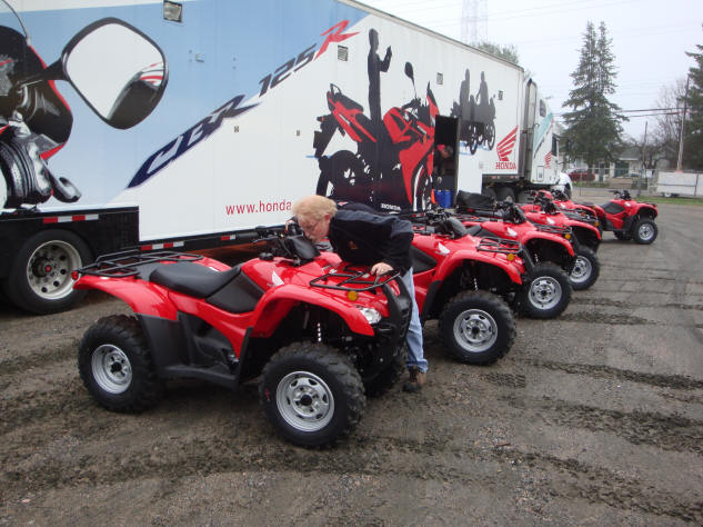 Andrew Ryeland founder of Bear Claw Tours with some of latest 2009 additions to the fleet.